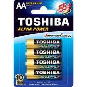 Baterii toshiba Ultra alcalina Baterie LR6 / AA, 1,5V, ALPHA POWER 4 piese (0292763)