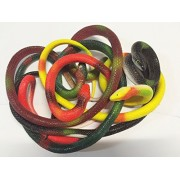 "Mocase 5 Pack Realistic Rubber Snakes 25"" Snake Toy Garden Props Toys Play (Round Headed Snakes)"
