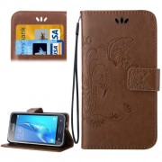 Samsung Galaxy J1 (2016) Case, J120 Case, Crazy Horse Texture Printing Horizontal Flip Leather Case with Holder & Card Slots & Wallet & Lanyard(Brown)
