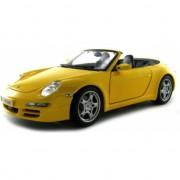 Schaalmodel Porsche 911 Carrera S Cabrio geel