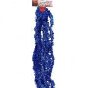 Geen Blauwe folie feestslinger 500 cm