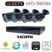 Kamerové systémy 960H s 4x bullet kamery s 20m IR + DVR s 1TB