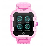 Ceas Inteligent pentru copii WONLEX KT12 4G Roz, cu GPS, apelare video, rezistent la apa, localizare WiFI si monitorizare spion