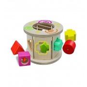 Encajable Cilindro de Madera Color y Formas - Eichhorn