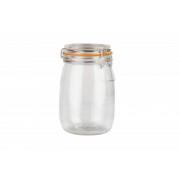 Borcan Depozitare din Sticla cu Capac, 1000ML