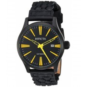 Invicta Watches Invicta Men's 'I-Force' Automatic Stainless Steel and Leather Casual Watch ColorBlack (Model 23779) BlackBlack