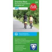 Fietskaart 04 Drenthe-West met Drents-Friese Wold ( met knooppuntennetwerk | Falk