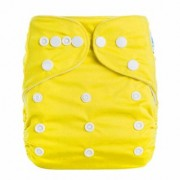 Vorra Fashion Reusable Infant Diapers Grid Soft Covers Washable Size Adjustable (Yellow)