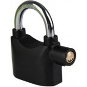 Indo NS-216 Siren Alarm Lock Anti-Theft Security System Door Motor Bike Bicycle Padlock - Black Safety Lock Security Electronic Alarm Lock For Home/Bike/Cars/Office Safety Lock Safety Lock(Black)