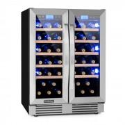 Klarstein Vinovilla Duo 42 kétzónás borhűtő, 126 l / 42 palack, 3 színű LED, üvegajtó (HEA8-Vinovilla-Duo42)