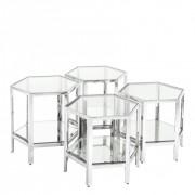 Set de 4 masute de cafea design LUX Aramis 111264 HZ