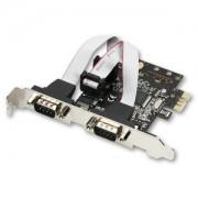 Card PCI-E x1 Axagon PCEA-S2, adaptor la 2x Serial DB9 male, Include bracket Low Profile
