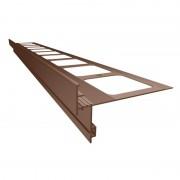 K50 Profil aluminiowy balkonowy 2.0m brązowy RAL 8019 - listwa balkonowa okapnikowa brązowa