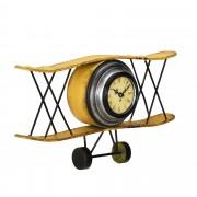 Стенен часовник [en.casa]® Античен самолет - с аналогови стрелки- 38 x 7 x 21,5 см. -цветен