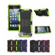 zachte siliconen hard plastic omhulsel houder stand telefoon funda geval voor apple ipod touch 6