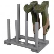 Esschert Design Laarzenrek hout grijs voor 4 paar laarzen
