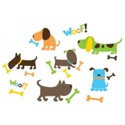 Wall Pops WPK0614 Puppy Love Wall Decals