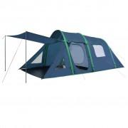 vidaXL Палатка за къмпинг с надуваеми греди, 500x220x180 см, зелена