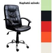 Irene krómlábas irodai forgószék, US 02, fekete (főnöki forgószék, vezetői szék, főnöki fotel)