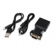 Convertor VGA tata la HDMI mama cu cablu audio 1080P mufa aurie HOPE R