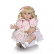 MaiDe 60cm Lifelike Reborn Baby Realistic Soft Silicone Toddler Girl Dolls Long Hair for Women Girls Gift