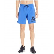 Reebok Workout Ready Woven Graphic Shorts Cobalt