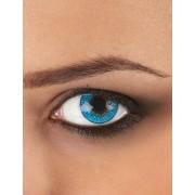Lentes fantasia olho azul para adulto