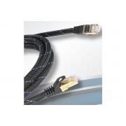 Black Connect Nätverkskabel CAT 6a S-FTP OFC-koppar 5 meter Svart
