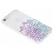 Multicolor mandala design TPU hoesje iPhone 5 / 5s / SE