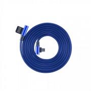 Cavo Micro USB Angolato 90° USB2.0/MicroUsb 1.5m Blu