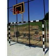 Porti fotbal/handbal 3x2 m, cu panou baschet