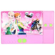 Frozen Elsa and Princess Anna Sisters Jumbo Pink Pencil Box for Girls. From the Hit Movie Frozen. Tab Style Pencil Boxes Make Great Gifts As They Help Kids Practice