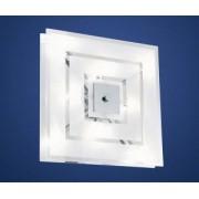 Fali/mennyezeti lámpa G4 8x20W 37x37cm szögletes króm/fehér Genua1 90692 Eglo