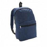 Rucsac clasic, compact si usor, buzunar frontal, Everestus, CC, poliester, albastru inchis, saculet si eticheta bagaj incluse