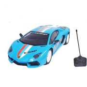 Emob Super Sports Rally Remote Control Racing Car With Front Flashing Light (Blue)