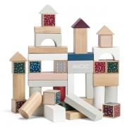 Cuburi colorate de construit, 40 piese - Micki