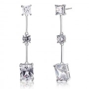 Cercei Borealy Argint 925 Simulated Diamond Amelie