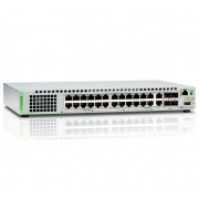 Allied Telesis Allied Telesis AT-GS924MX-50 Gigabit Ethernet Managed switch with 24 ports 10/100/1000T Mbps, 2 SFP/Copper combo ports, 2 SFP/SFP+ uplink slots, single fixed AC power supply