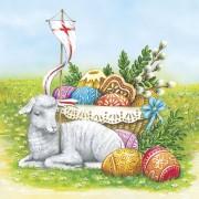 Lunchservet Easter Lamb pakje 20 stuks.