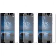Deltakart Tempered Glass for Nokia 8 - Pack of 3