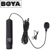 BOYA BY-M4C Professional Clip-On Cardioid XLR Lavalier Microphone for Sony Canon Panasonic Camcorders Zoom Audio Recorders