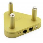 Router Wifi De Doble Banda De 2.4G A 300Mbps + 5G A 450Mbps Con Amplia Cobertura De Señal De 500M - Amarillo