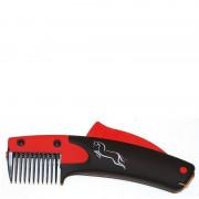 BR SoloGroom manenkam SoloComb - red/black - Size: ONESIZE