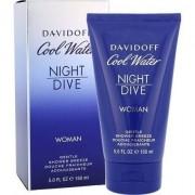 Davidoff cool water night dive 150ml per donna shower gel