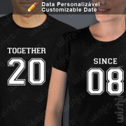 T-shirts Together Since Data
