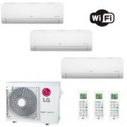 LG Condizionatore Trial Split 12+12+12 Btu Libero Smart 12000 12000 12000 motore R-32 MU4R25.U40 3.5+3.5+3.5 kW A++ A+ WiFi