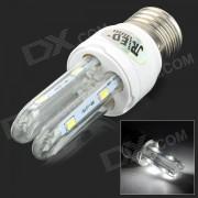 JRLED E27 3W 230LM 6500K 8-5730 SMD LED lampara de la luz blanca - blanco + plata (ac 85 ~ 265V)
