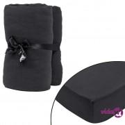 vidaXL 2 kom Antracit Presvlake za Madrac 140x200-160x200cm pamučni žersej