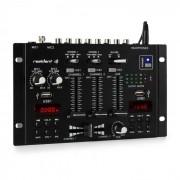 Resident DJ 22BT 2CH Mesa de mezclas DJ de 3/2 canales 2x USB 3x jack de 6,3 negra (MD3-DJ-22 BT BK)