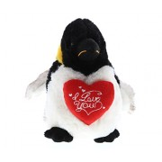 Dollibu Emperor Penguin I Love You Valentines Stuffed Animal - Heart Message 7 Inch Super Soft Plush (K5466 5999)